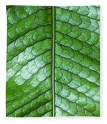 Green Scaly Leaf Pattern Fleece Blanket
