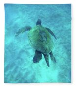 Green Sea Turtle 2 Fleece Blanket
