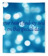 Greeting Card Blue With White Lights Fleece Blanket