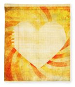 greeting card Valentine day Fleece Blanket