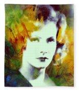 Greta Garbo Abstract Pop Art Fleece Blanket