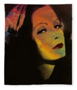 Greta Garbo Pop Art Fleece Blanket