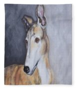 Greyhound In Thought Fleece Blanket