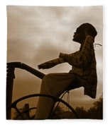 Grim Hay Reaper Fleece Blanket