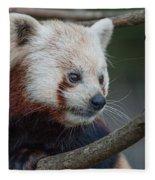 Grimacing Red Panda Fleece Blanket