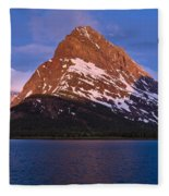 Grinnel Point At First Light Fleece Blanket