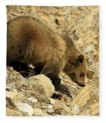 Grizzly On The Rocks Fleece Blanket