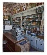 Grocery Store Of Yesteryear - Virginia City Montana Ghost Town Fleece Blanket