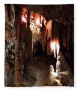 Grotte Magdaleine South France Region Ardeche Fleece Blanket