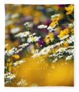 Group Of Daisies Fleece Blanket