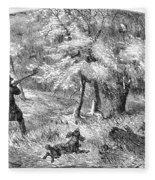 Grouse Hunting, 1855 Fleece Blanket