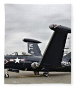 Grumman F9f-5p Panther Fleece Blanket