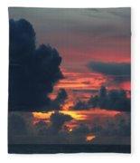 Guamanian Sunset 1 Fleece Blanket