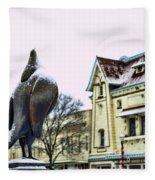 Guard Pigeon And Liberty Theater Fleece Blanket