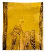Guardian Angel Byzantine Art Fleece Blanket