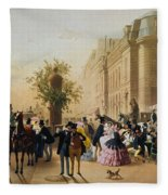 Guerard: Cafe Tortoni, 1856 Fleece Blanket