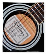 Guitar Abstract 1 Fleece Blanket