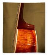 Guitar Wood Grain Exposed Fleece Blanket