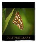 Gulf Fritillary 2 Fleece Blanket