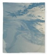 Gulf Of Mexico Oil Spill From Space Fleece Blanket