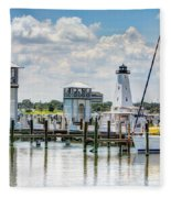 Gulfport Harbor Fleece Blanket