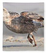 Gull Taking Off Fleece Blanket