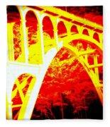 Haceta Head Bridge In Abstract Fleece Blanket