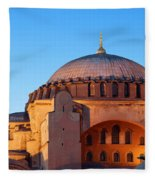 Hagia Sophia In Istanbul Fleece Blanket