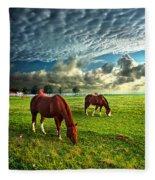 Hailey's Horses Fleece Blanket