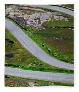 Hairpin Bends In The, Healy Pass, Beara Fleece Blanket