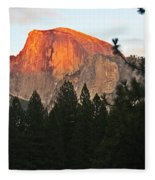 Half Dome Alpenglow Fleece Blanket