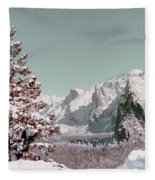 Half Dome In The Snow Fleece Blanket