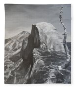Half Dome Tree Fleece Blanket