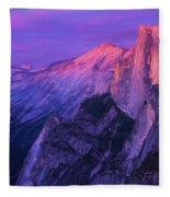 Half Purple Dome Fleece Blanket