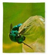 Halicid Wasp 1 Fleece Blanket