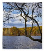 Hall Lake In Autumn No 0118 Fleece Blanket
