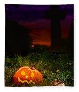 Halloween Cemetery Fleece Blanket