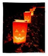 Halloween Paper Lanterns Fleece Blanket