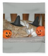 Halloween Party Animals Fleece Blanket