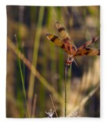 Halloween Pennant Dragonfly Fleece Blanket