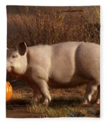 Halloween Pig Fleece Blanket