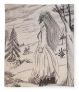 Halloween Witch Walk Fleece Blanket