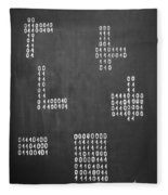 Hamlet - Binary Painting By Marianna Mills Fleece Blanket