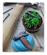 Hammer Cupcake Fleece Blanket