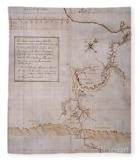 Hand Drawn Map By G. Washington Fleece Blanket
