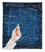 Hand Writing Science Formulas Fleece Blanket