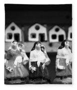 Handpainted Figurines Fleece Blanket