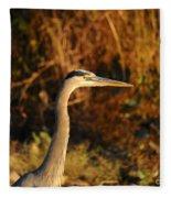 Handsome Heron Fleece Blanket