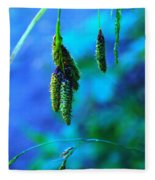 Hanging Green  Fleece Blanket
