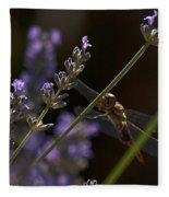 Hanging In The Lavender Fleece Blanket